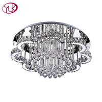 High Quality Modern Living Room Crystal Chandelier Dia100cm Large Home Decor Lighting Fixture LED Lustres De