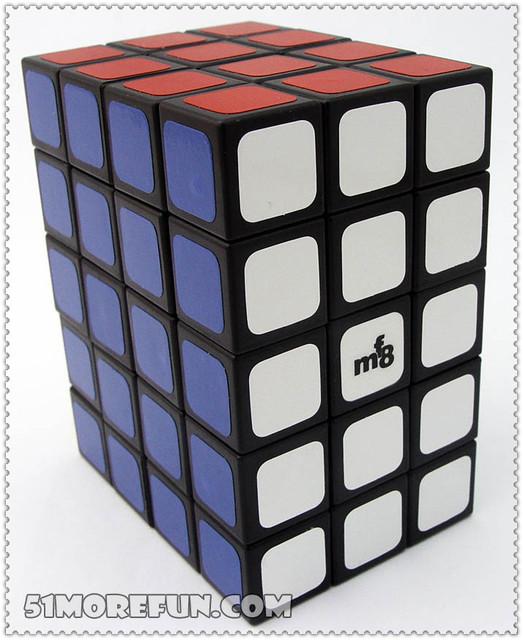 Mf8 3 x 4 x 5 Cubo mágico Puzzle negro aprendizaje y juguetes educativos Cubo juguetes