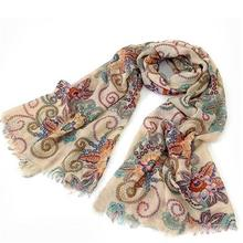 # Vestido 2019 Vintage Warm Knitted Ladies Scarf luxury brand Wrap Shawls and