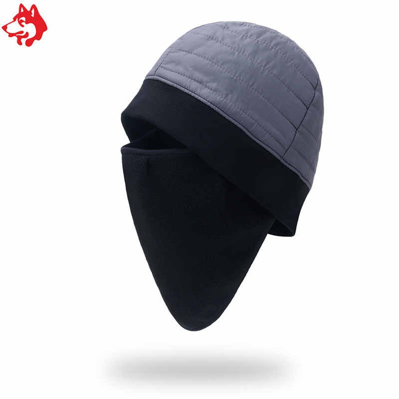 Winter Military Camo Hat Anti Cold Fleece Beanie Cap Outdoor Hunting Hat For Men