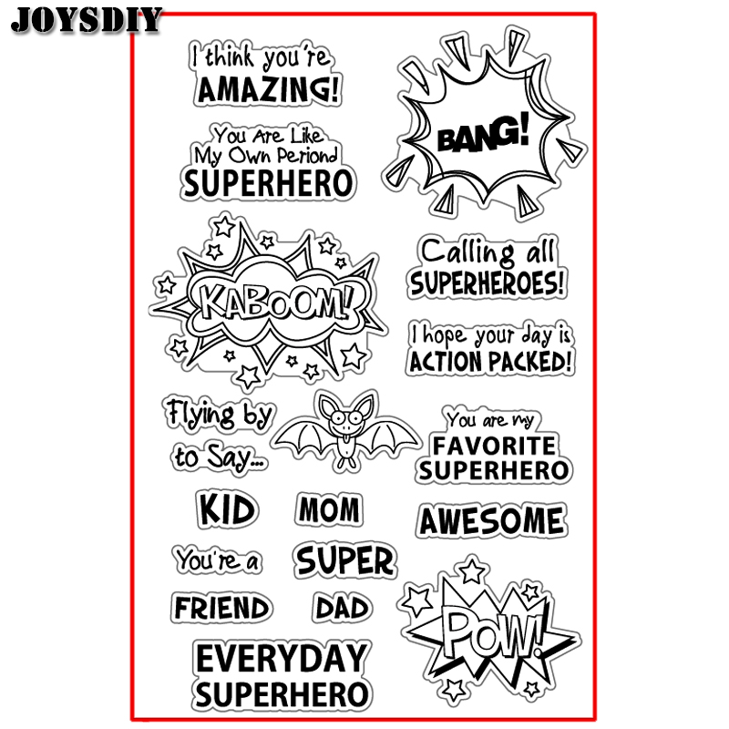 AMAZING BANG SUPER POW AWESOME Scrapbook DIY  photo cards account rubber stamp clear stamp transparent stamp Handmade card stamp spider texture background scrapbook diy photo cards account rubber stamp clear stamp transparent stamp handmade card stamp