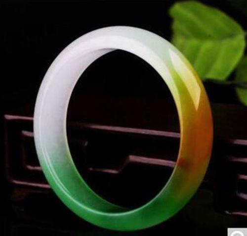 Koraba Fine Jewelry 100%Chinese Natural Green YELLOW Jadeite Jade Bracelet 60MMFree Shipping selling jewelry xinjiang hetian jadeite jadeite overlord pendant natural jadeite men 18 arhat necklace pendant