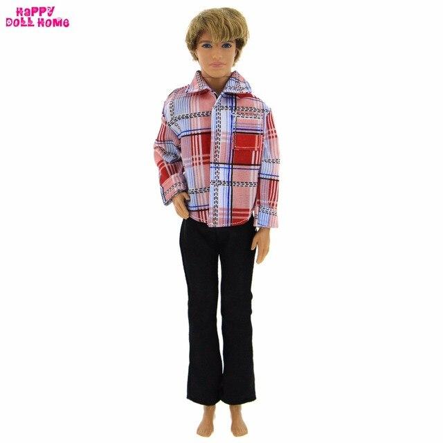 fe51f17a6f6 Mode Classique Outfit Vêtements Tous Les Jours Horizontale Rayures Chemises  à Carreaux Pantalon Pantalon Vêtements Pour