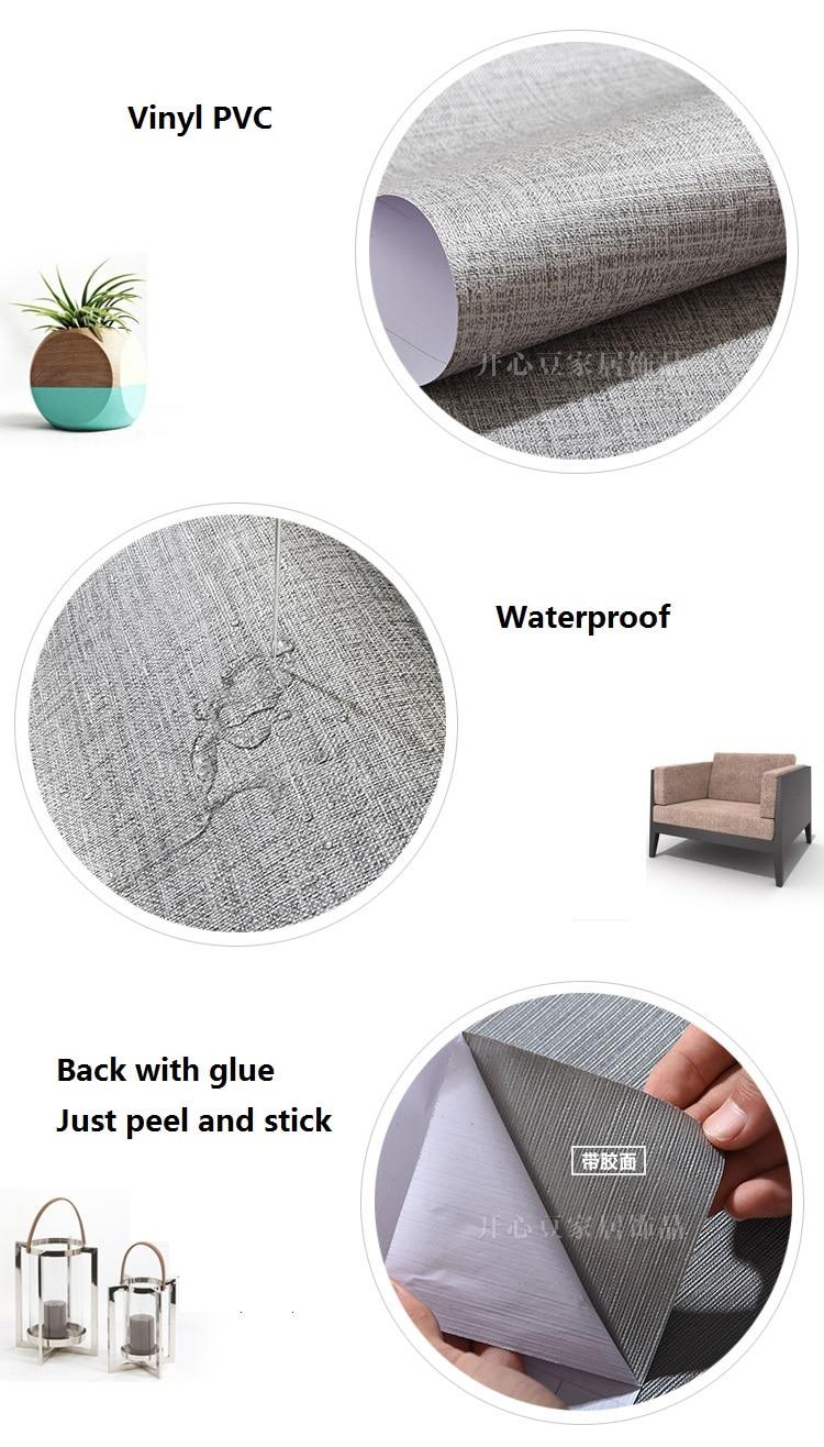 60cmX3m Modern Solid självhäftande Wallpaper Roll För vardagsrum - Heminredning - Foto 4