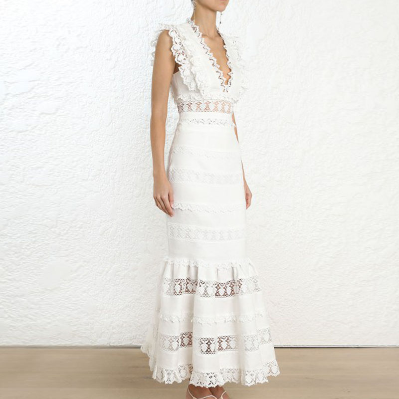 Qualité Ensembles Femmes Blanc Court 2019 Supérieure Mode Jupes Dehors Et Pièces Haut Deux Long Creusent 6Rx16aqwrn