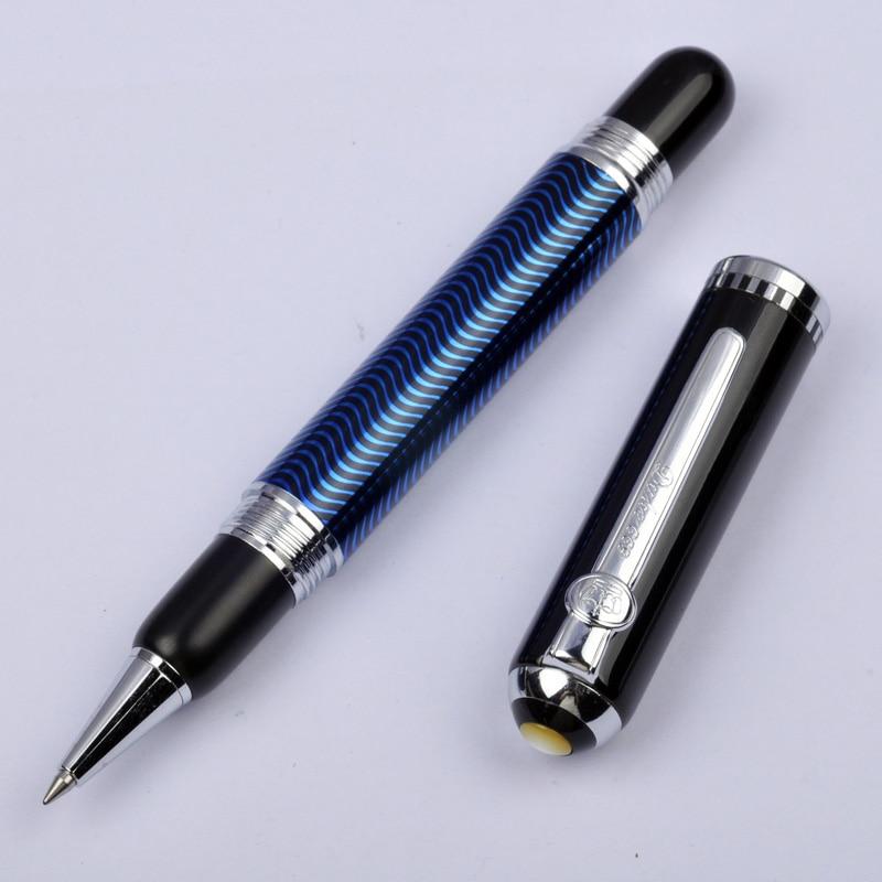 Stylo roller ondulé vert rouge bleu Duke 669 argent Clip capuchon rotatif métal 0.5mm stylos d'écriture étudiant avec une boîte d'origine