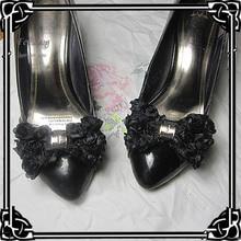 12 пара/лот шифон бант клип обуви мода Обувь Аксессуары может съемный
