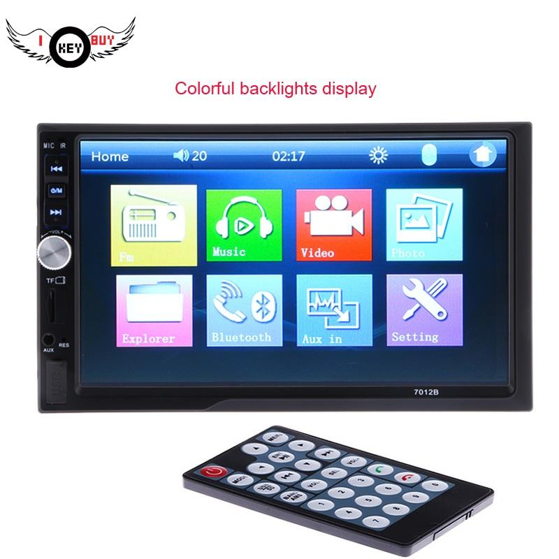 I Key acheter 7 pouces HD dans Dash écran tactile Bluetooth voiture stéréo lecteur Radio prise en charge FM MP5 USB Aux avec télécommande