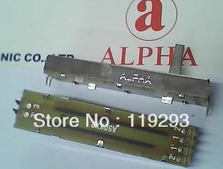 [ bella ]ALPHA 7.3 cm 73mm walking track Slide Potentiometers A50K * 2 A50KX2 A50K 15MM axes--10pcs/lot