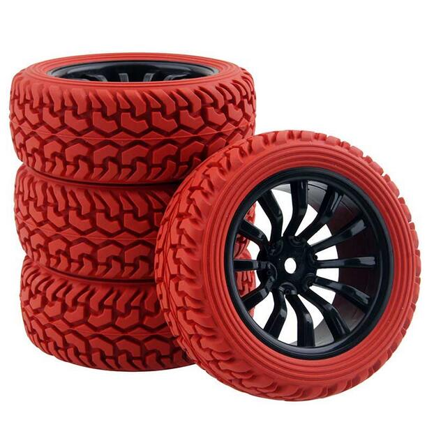 4pcs 1 16 rally tire off road tires buggy tyre 1 10 on road car pull rally wheel fit for hsp. Black Bedroom Furniture Sets. Home Design Ideas
