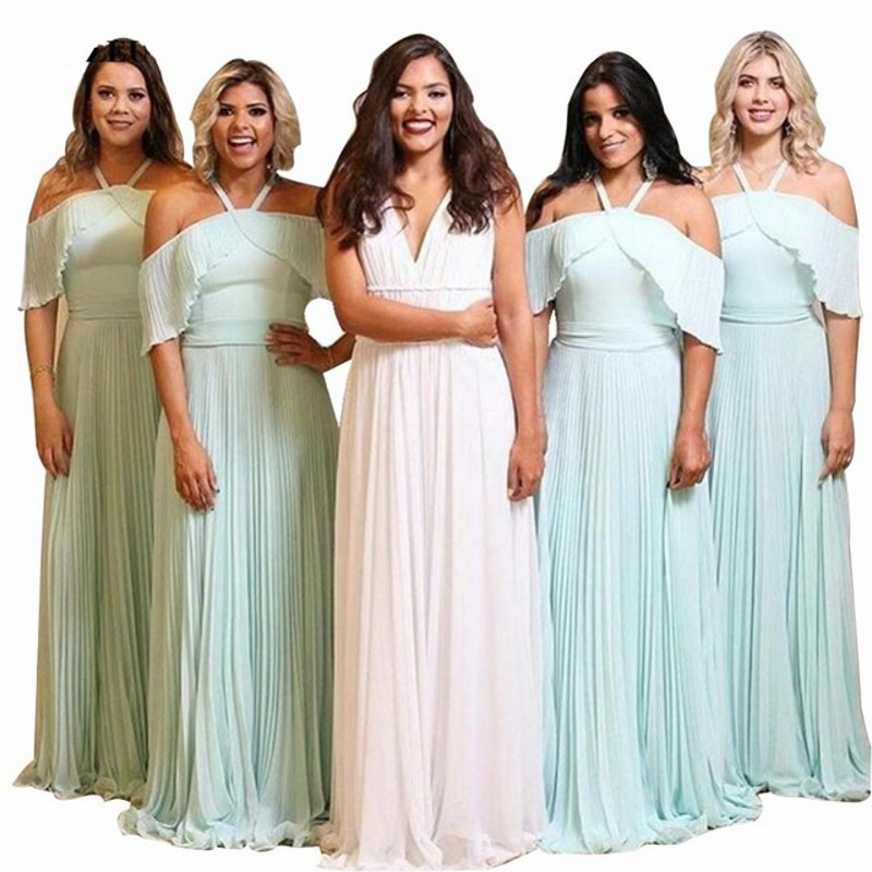 Special Design Candy Color Off The Sholder A-Line Chiffon Pleated   Bridesmaid     Dresses   Hot Chiffon Court Train   Bridesmaid   Gowns