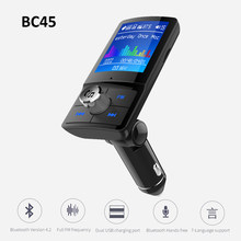 BC45 Bluetooth 4.2 Handsfree Car MP3 player FM Transmitter AUX Audio Receiver Car USB multi-language Support TF Card / U Disk(China)