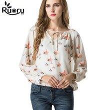 2017 spring fashion chiffon streetwear blouse women long sleeve shirt plus size clothing female t chemisier femme
