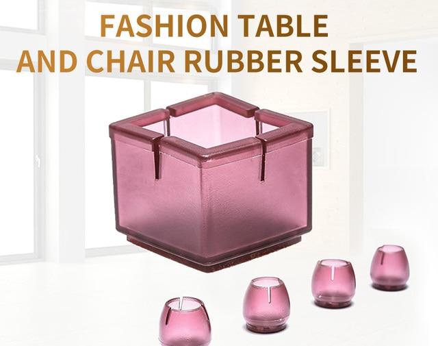 Круглые силиконовые колпачки для ножек стула Нескользящие Чехлы