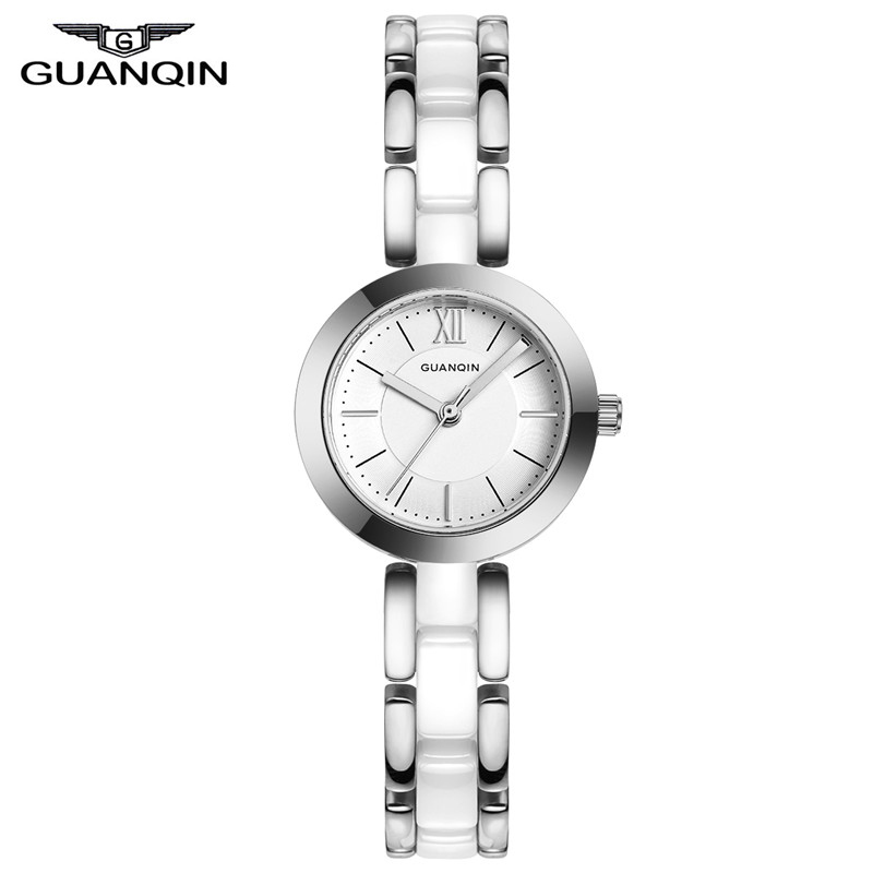 ФОТО GUANQIN GQ17001 relojes mujer 2017 Famous Brand Luxury Women's Watch Bracelet Women Wrist Ceramic Ladies Dress Watches
