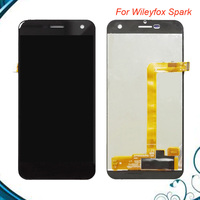 Top quality Black 5 Inches Spark Lcd For wileyfox spark Full New LCD Display Panel Screen Touch Screen Digitizer Assembly
