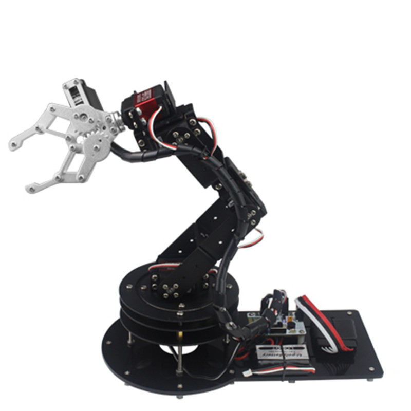6 DOF CNC aluminum robotic arm / Arduino secondary development / Open source robot manipulator for DIY Mechanical arm fast free ship electronic diy programmable console open source game development board for arduino develop