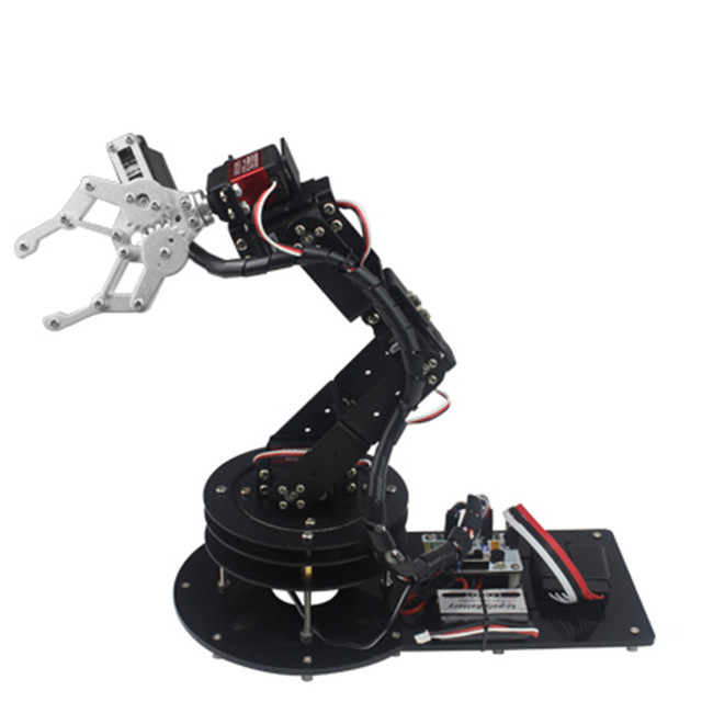 US $398 5 |6 DOF CNC aluminum robotic arm / Arduino secondary development /  Open source robot manipulator for DIY Mechanical arm-in Parts &