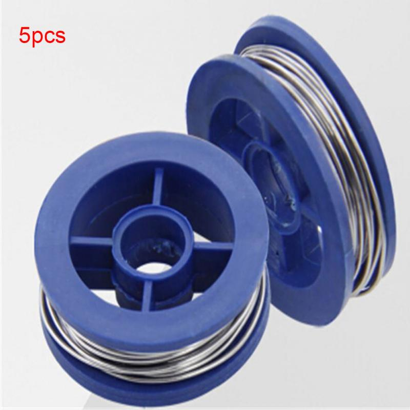 5 Roll Solder Wire 0.7mm 100g Useful Tin Lead Rosin Core Solder Welding Iron Wire Reel 63/37 Hot Sale #0305