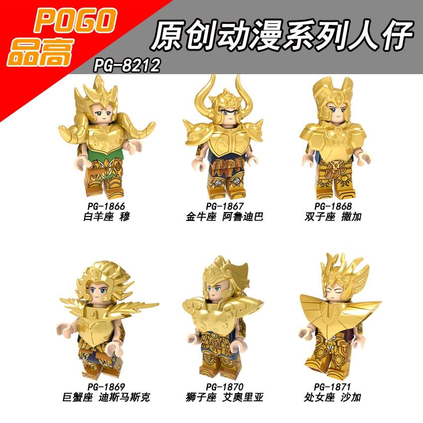Image 3 - Saint Seiya Gold Saint Athena Shiryu Glacier Japanese Anime Constellation Figure Bricks Blocks Toys Compatible With Lego-in Blocks from Toys & Hobbies