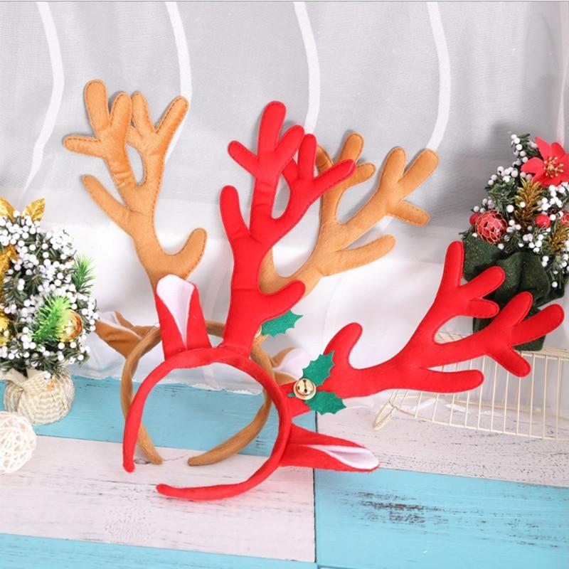 Masquerade Christmas Supplies Antler Decoration Antler Head Buckle Christmas Head Buckle