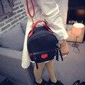 2017 pu mini female fashion backpack girl backpack  school bag  female canvas backpack