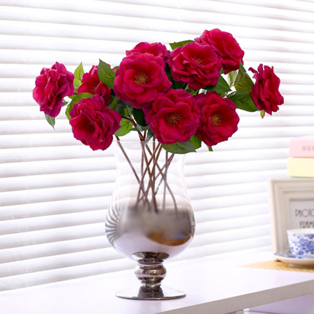ensue cm rosas de seda de flores de primavera ramo de la boda decoracin