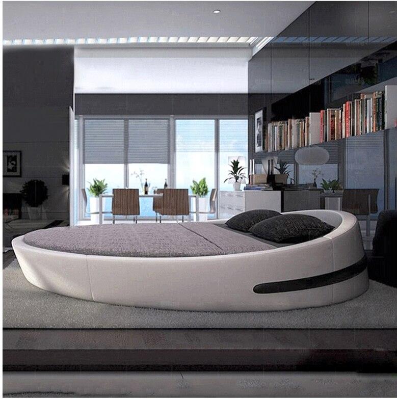 US $900.0 |Morbido letto di design cinese ultime king size letto rotondo  811-in Letti da Mobili su AliExpress
