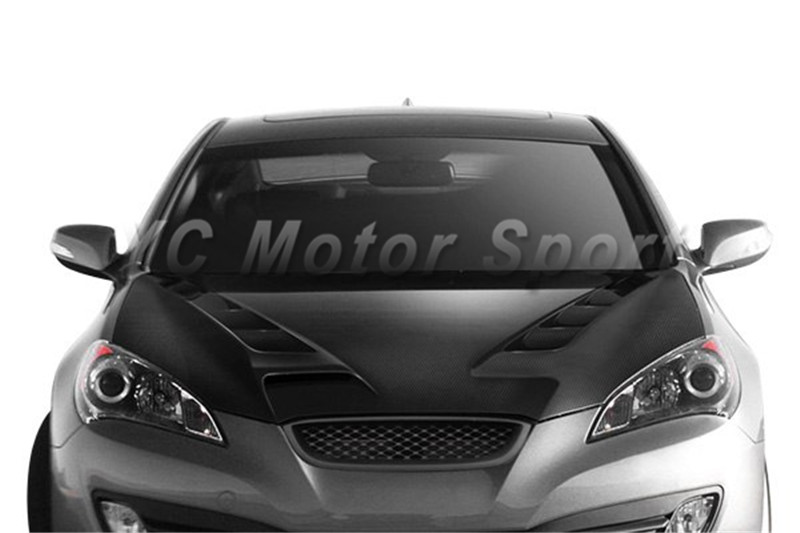 Car Accessories FRP Fiber Glass Front Grille Fit For 2010-2012 Hyundai Rohens Genesis Coupe Front Grille Mesh