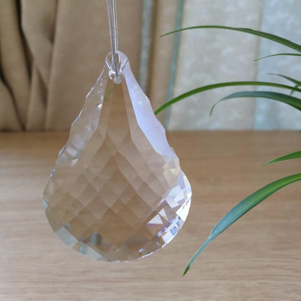 Nejnovější 40units 76mm křišťálové sklo visí kapky křišťálový lustr díly koule pro domácí závěs dekor svatební výzdoba