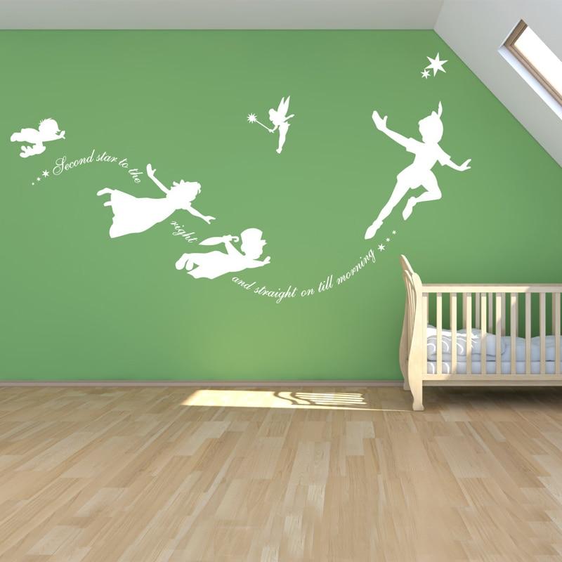 Peter Pan Vinyl Wall decal, Sticker Custom Mural Fantasy Fairytale - Տնային դեկոր - Լուսանկար 2