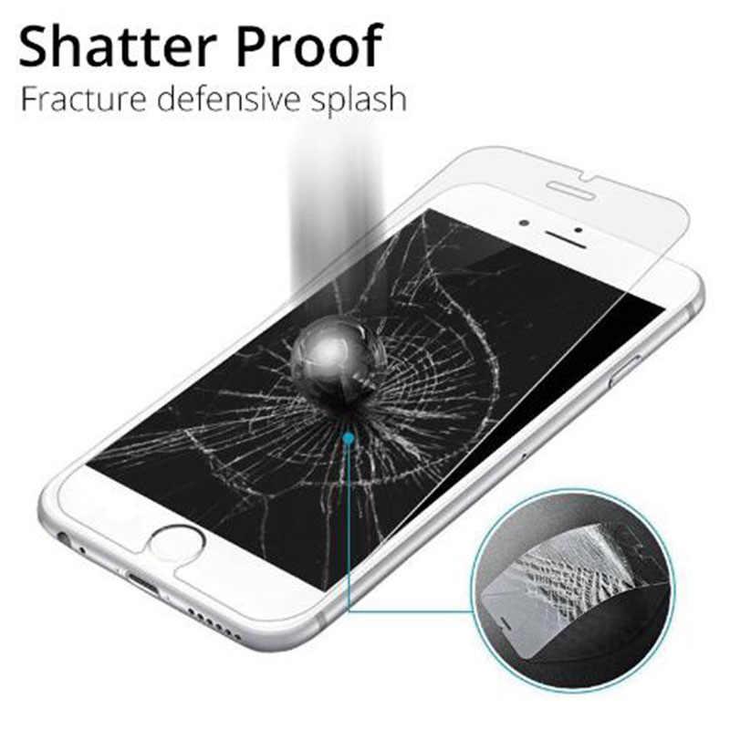 واقية الزجاج المقسى ل iphone 6 7 5 s se 6 6 s 8 زائد XS ماكس XR الزجاج ل iphone 7 8 x واقي للشاشة الزجاج على iphone 7