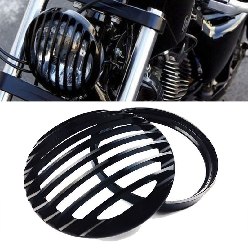 Electrical Automotive 5 3/4 Headlight Light Grill Cover for Harley ...