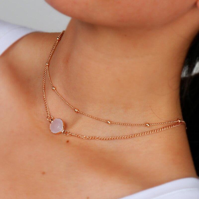 Tenande nueva moda corazón cristal collares hoja Luna gargantilla collares colgantes para mujeres playa estilo joyería declaración Bijoux