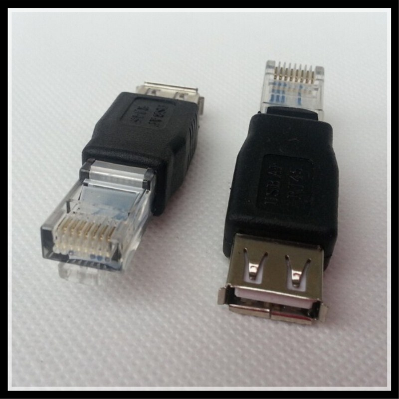 2pcs RJ45 Male to USB 2.0 AF A Female Adapter Connector Laptop LAN Network Cable Ethernet Converter Transverter Plug usb 3 0 a female to a female f f converter adapter usb3 0 af to af coupler connector extender converter for laptop pc
