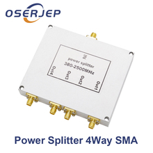 Low Pim 380 mhz ~ 2500 mhz 2 3 4 Way Sma Power Splitter Sma Femmina Connettore di Alimentazione Divisore Splitter Divisore Per La Connessione Wifi Gps Booster