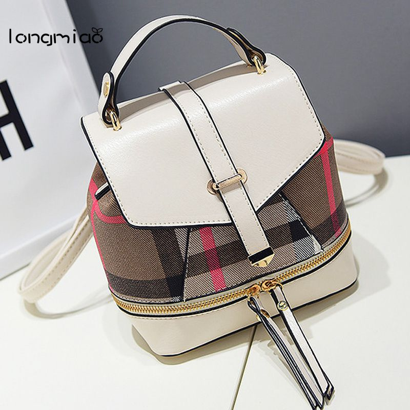 longmiao 2017 New Designer Brand School Bags for Girls Teenagers Female Small Summer Backpack  Women Designer Mochila Colorida new 2016 top brand cloth school bags for