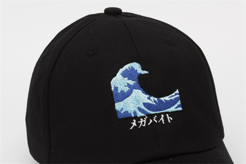 0defab488ea Harajuku Men Women Wave Embroidery Baeseball Cap Pink Black White Dad Hats  for Men Women Adjustable Caps Snapback Caps Swag Gorr-in Baseball Caps from  ...