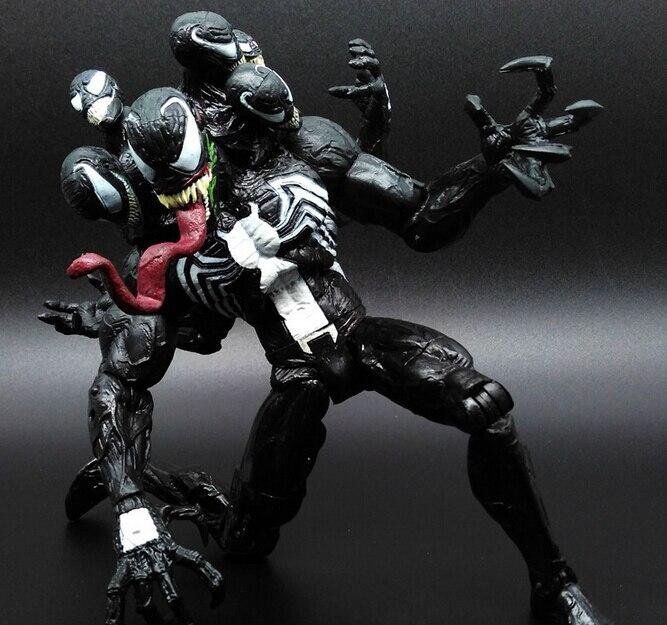 Está quente! Novo 1 pçs 20cm homem-aranha veneno pvc brinquedo figura de ação brinquedos bonecas presente de natal saco opp