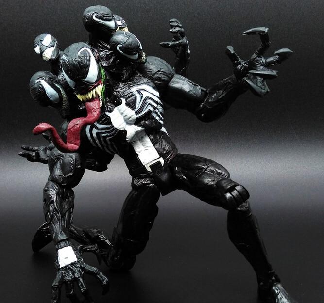 Hot ! NEW 1pcs 20cm Spider-man Venom Pvc Toy Action Figure Toys Dolls Christmas Gift Opp Bag