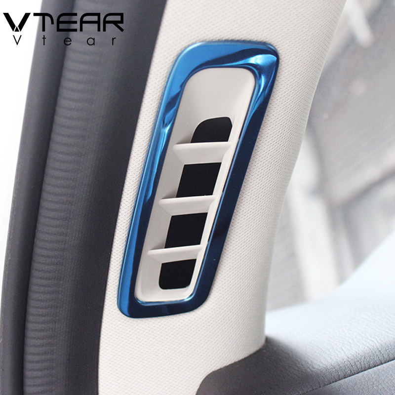 Car Carbon Rear Air Condition Outlet Vent Cover Trim Fit For Mazda CX5 2017-2018
