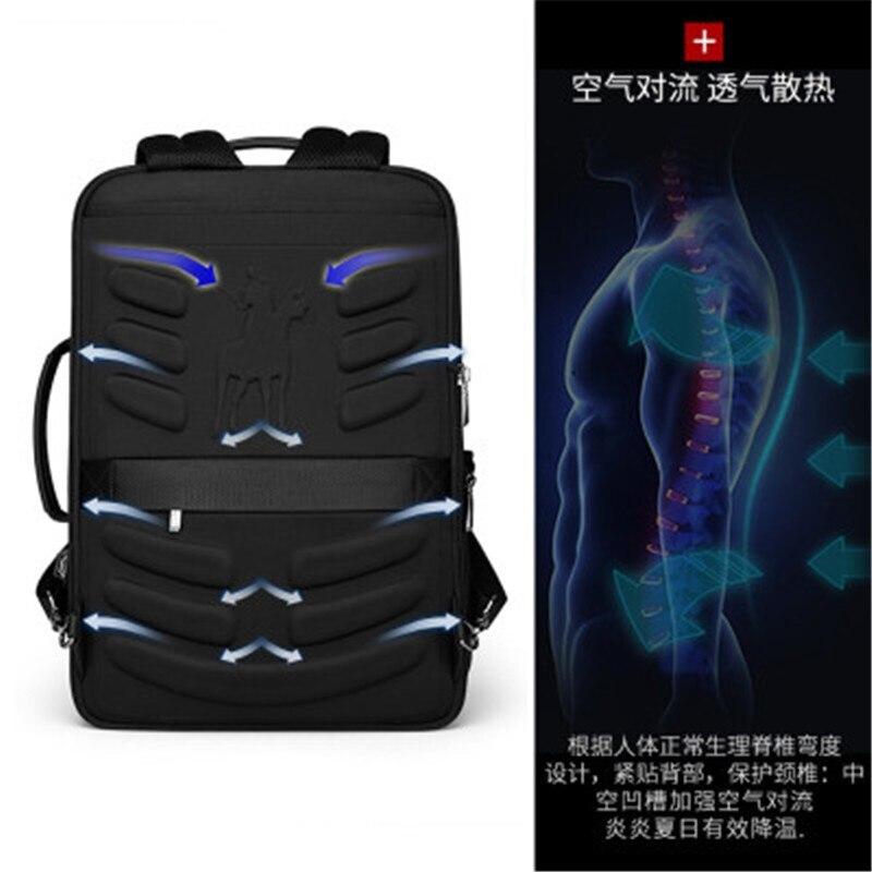 Męskie backpa2019 nowy Anti theft moda mężczyźni plecak wielofunkcyjny wodoodporna 15.6 cal torba na Laptop mężczyzna USB ładowania podróży torba w Plecaki od Bagaże i torby na  Grupa 2