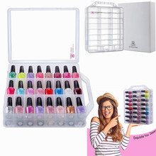 MAKARTT Universal Clear Nail Polish Organizer Holder for 48 Bottles with Adjustable Compartments Nail Polish Case