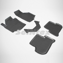 Для Skoda Yeti 2008-2018 резиновые коврики (для автомобилей без модуля bluetooth) Seintex 82566