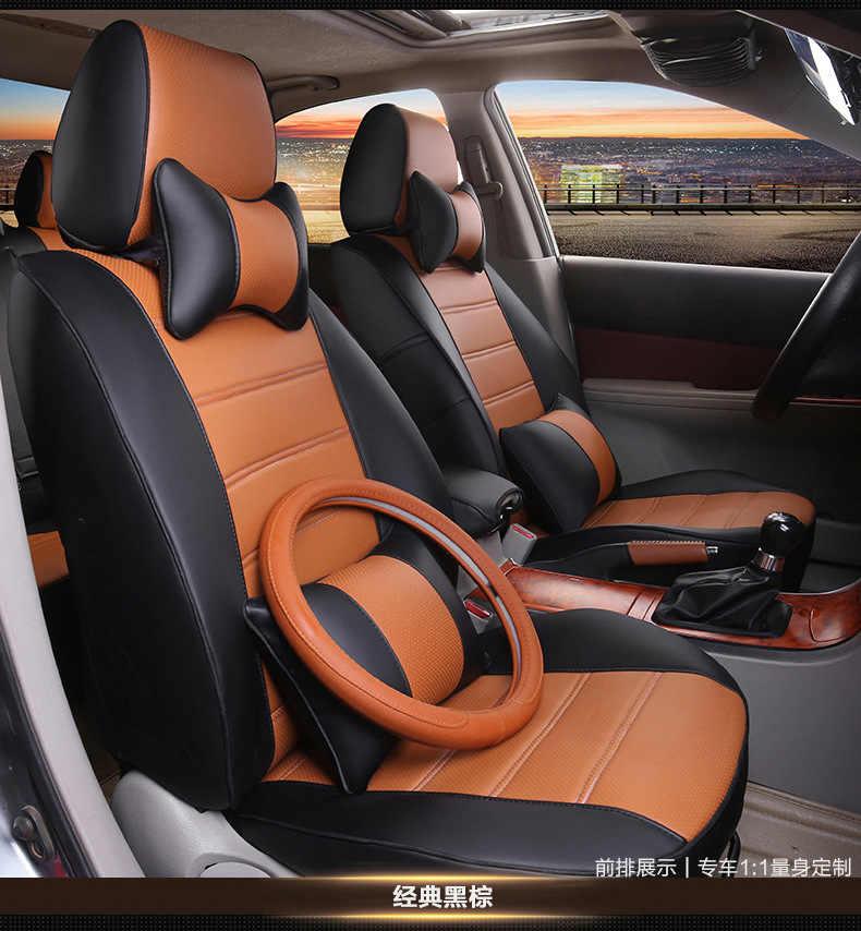 รถยนต์รถที่นั่งครอบคลุมเบาะหนัง PU สำหรับ MITSUBISHI Lancer EX V3/5/6 Pajero Sport Outlander V73 v77 Grandis EVO IX DX 7