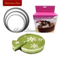 3 шт./компл. круглый форма выдвижной торт круг из нержавеющей стали Tart кольцо Регулируемый мусс торт деортирующий инструмент для выпечки