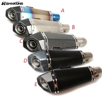 51mm 61mm Universal Motorcycle Exhaust Muffler Modified Excape Stainless Steel Carbon Fiber Fit Most Motorbike AK060