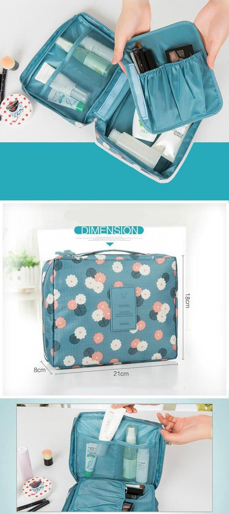 HTB1ba97l4rI8KJjy0Fpq6z5hVXa3 - Fashion Travel Nylon beauty makeup bags water-proof cosmetics bags