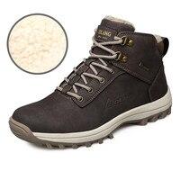 39 46 Men Boots Plush Warm Winter Men Shoes Big Size Winter Shoes Men Black Brown
