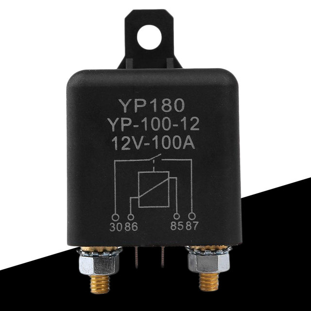 US $8 45 |12V DC 100A 4 Pin Car Relay Car Truck Motor Automotive Switch  Automotive Relay Continuous Type Heavy Duty Install Amp-in Car Switches &